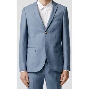 Topman skinny fit light blue blazer 38S